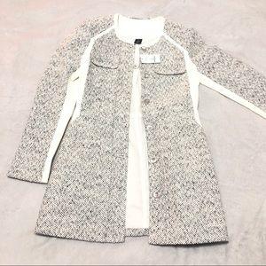 NWT White House tweed long wool blend Jacket 00P